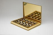 Classic collection / Hinged box / Extra large (20 dates) / Textured gold