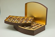 VIP collection / Bow front box / Double layer (54 dates) / Leather check brown